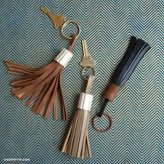 We are showing you how to make a leather tassel with this super simple tutorial. Tassels are versatile accessories great for keychains, purses, jewelry ...