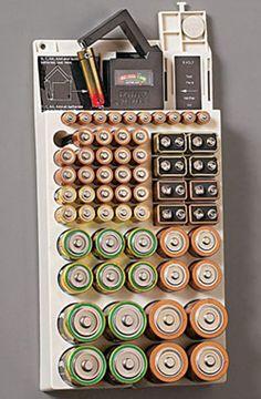 http://www.ebay.com/itm/66-Battery-Storage-Plastic-Holder-Rack-Organizer-Removable-Tester-For-AAA-9V-C-D-/331296356961?pt=LH_DefaultDomain_0