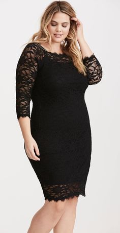Plus Size Lace Bodycon Dress - Plus Size Party Dress - Plus Size Cocktail Dress #plussize