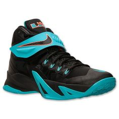 Men's Nike Zoom LeBron Soldier 8 Basketball Shoes | Finish Line | Black/White/Dusty Cactus