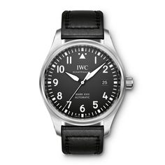 The Pilot Mark XVIII is a wonderful nod to the original watches that were originally made for the Royal Air Force. With an traditionally stylish look, the Mark XVIII continues the great relationship between IWC and aviation. The Mark XVIII has a more stre Swiss Luxury Watches, Luxury Watches For Men, Modern Watches, Elegant Watches, Top Gun, Iwc Mark Xv, Iwc Chronograph, International Watch Company, Iwc Pilot