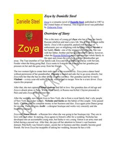 Zoya PDF Novel by Danielle Steel English Novels, Danielle Steel, Romantic Love, Love Life, Cas, Love Story, Writer, Romance, Reading