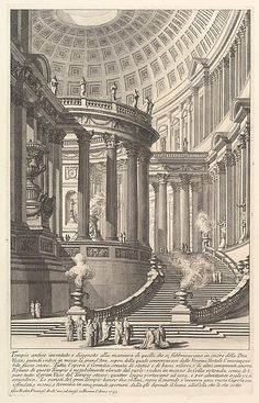 Ancient Temple Lacma Collections - Ancient Temple Giovanni Battista Piranesi Italy Mogliano Italy Circa Prints Etching With Engraving And Drypoint Architecture Temple, Architecture Baroque, Classic Architecture, Architecture Drawings, Ancient Architecture, Architecture Details, Landscape Architecture, Gravure, Art Museum