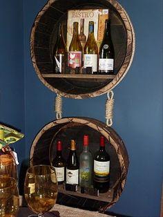 Unique way to display wine.