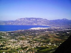 View from the Acrocorinth - Ancient Korinthos Greece Corinth Greece, Greek Culture, Greece Travel, Ancient Greek, Planet Earth, Places Ive Been, Travel Destinations, Beautiful Places, Places To Visit