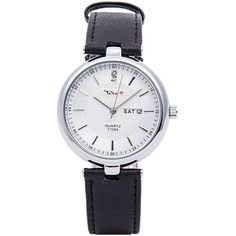 top brand tada men clock calendar analog display luxury genuine leather strap pc21 quartz men business watch with 30m waterproof