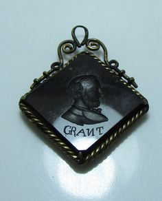 Ulysses S Grant - USA President - Mourning Pendant in Jewelry & Watches, Vintage & Antique Jewelry, Other Vintage Jewelry | eBay