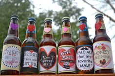 Printable Valentine Beer Labels for him. This can be a part of the perfect Valentines Day gift for any guy who enjoys craft Beer. Valentines Ideas For Him, Valentines Gifts For Boyfriend, Boyfriend Gifts, Valentine Day Gifts, Holiday Gifts, Valentines Surprise For Him, Holiday Store, Valentine Craft, Bday Gifts For Him