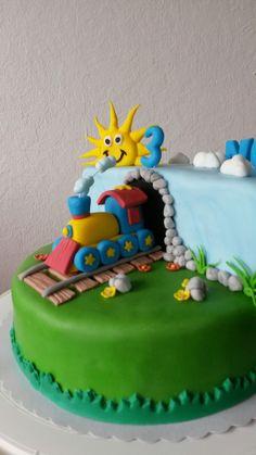 Zug Torte Eisenbahn Torte Train Cake Kinderkuchen Pinterest