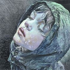 "Beautiful painting titled ""Rain"" by Maria Zeldis of Mexico"
