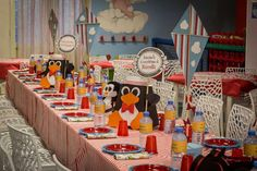 Dressed up table at a Mary Poppins birthday party! See more party planning ideas at CatchMyParty.com!