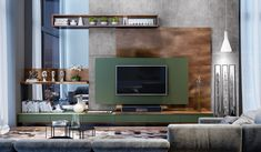 Home theaters planejado Dimare Tv Cabinet Design Modern, Tv Wall Design, Home Theaters, Luxury Bedroom Design, Bedroom Bed Design, Lcd Unit Design, Tv Unit Furniture Design, Lcd Units, Tv Unit Decor