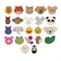 Cute animal faces filled machine embroidery designs