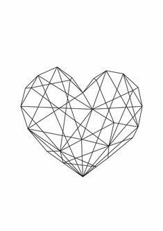 Geometric Heart Art Home Decor Print. Artwork Bedroom Home Decor Family Positivity Life Inspiration Monochrome Living Room Interior Frame Art Styling Interior Design Happy Emotions Live Geometric Heart, Geometric Wall, Cool Walls, String Art, Cute Wallpapers, Iphone Wallpaper, Gallery Wall, Wallpaper Gallery, Images