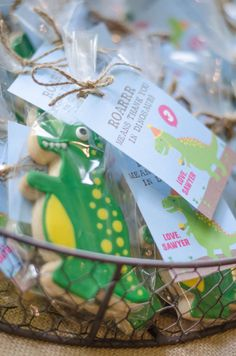 Excavating the old ideas for a dinosaur party? Kara's Party Ideas has a dino-mite birthday bash for you! Dinosaur Party Favors, Dinosaur Birthday Party, 3rd Birthday Parties, Birthday Party Favors, Birthday Bash, Birthday Invitations, Themed Parties, Birthday Ideas, Kid Parties