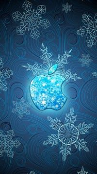 Christmas iPhone 7 Plus wallpapers icecold Snowflake style