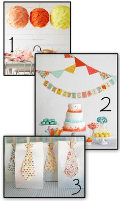 garland...Love It....Great Idea In Colors and Patterns That Are Age Appropriate!!