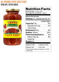 Cento All Natural Pasta Sauce does not contain onions or garlic in the ingredients, despite the artwork on the label; I confirmed with a company representative.