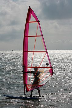♂ Windsurfer off cowes by Keith Allso, via Flickr