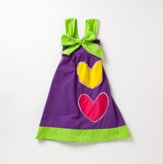 Two Hearts Dress with Big Ribbon