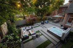 Backyard patio with hot tub landscaping 67 trendy ideas Backyard Gazebo, Backyard Patio Designs, Backyard Retreat, Pergola Patio, Pergola Kits, Outdoor Retreat, Backyard Landscaping, Patio Kitchen, Outdoor Kitchen Design