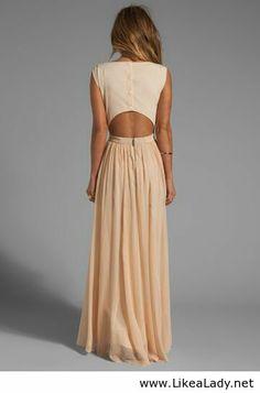 Interesting back for a long dress - LikeaLady.net