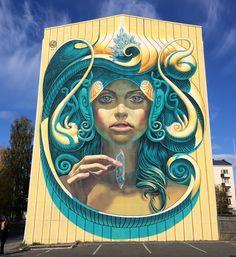 "WD street art - ""Prosperity"" - for UPEA 2016 - Kemi, Finland - Sept 2016 / Photo courtesy of Katutaide"
