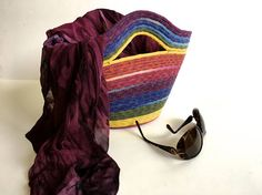 Hand Dyed Clothesline Tote Bag