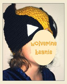 Beanie in style of Wolverine from XMen by halfcaffcrochet on Etsy, $20.00