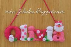 Image result for llaveros letra K en fieltro