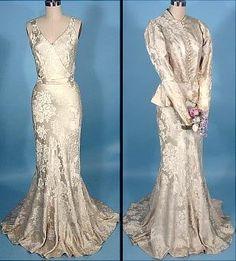 1930s wedding dress with jacket