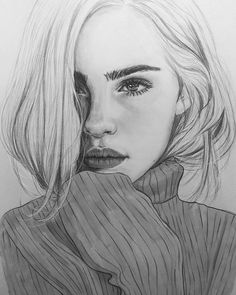 Supreme Portrait Drawing with Charcoal Ideas. Prodigious Portrait Drawing with Charcoal Ideas. Beautiful Pencil Drawings, Pencil Art Drawings, Realistic Drawings, Art Drawings Sketches, Girl Pencil Drawing, Drawing Drawing, Pencil Drawing Tutorials, Pretty Drawings, Drawings Of Faces