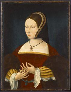 CHAPERON - MANCHES - BIJOU Ecole flamande, Femme. v. 1515. Samuel H. Kress Collection