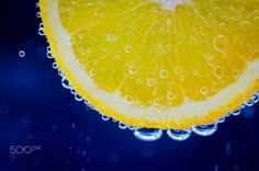 Orange - Just an orange slice in bubbly water.