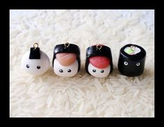 Polymer clay sushi!!! Going to have to go out and get some polymer clay...