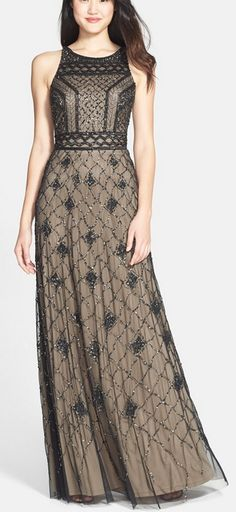 Beautifully embellished gown by Adrianna Papell