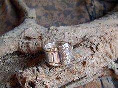 "R14- Handmade spoon ring,""MOONLIGHT""1959  sz 6-1/2 Silver Plated #handmade #SpoonRing"