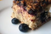 Dairy-Free Blueberry Coffee Cake.