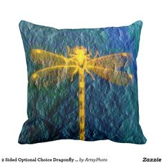 2 Sided Optional Choice Dragonfly On Texture