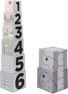 Done by Deer Stapelwürfel 123 - tolles Spielzeug für Babys, die schon greifen können.