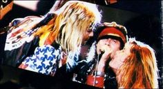Klaus Meine. (Scorpions)  w/ Vince Neil (Motley Crue) and Sebastian Bach (Skid Row) Moscow Music Peace Festival August 13, 1989