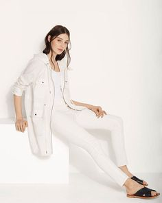 White on white dressing: cool, calm and considered.  25% off full priced pants for woman, man and child, in store only (AU & NZ). #countryroadstyle