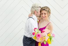 As the vendors and I got together for this shoot at Saint Irene's, we really wanted to highlight cheery color! Wedding Couple Pictures, Wedding Couples, Dream Wedding, Wedding Day, Groom Wear, October Wedding, Couple Portraits, Color Of Life, Event Venues