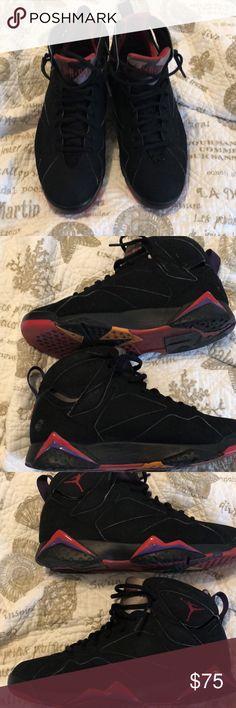 Jordan 7 Raptor Scuff on left heel Jordan Shoes Sneakers
