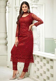 Indian Gowns, Net Dresses Pakistani, Pakistani Dress Design, Pakistani Suits, Indian Suits, Punjabi Suits, Indian Wear, Designer Kurtis, Designer Salwar Suits