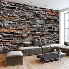 murando - Fotomural 50x35 cm - Papel tejido-no tejido - Papel pintado - Piedra Muro f-B-0086-a-b