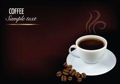 creative coffee art backgrounds vector