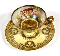 Dresden A.Lamm Childen Cup & Saucer