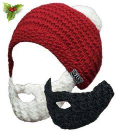 a835d0bc6d1 ... knitted or crocheted beard hat! See more. Santa Beardo Combo (Only for  the holidays)