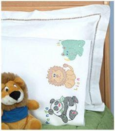 Jack Dempsey Children's Stamped Pillowcase-Children's Zoo